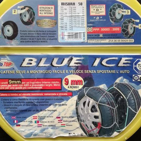 Blue Ice, taille 50, 9 mm